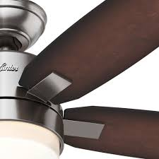 Brushed Nickel Ceiling Fan Amazon by Hunter 54