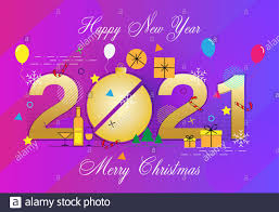 Items Where Year Is 2021 Happy New Year 2021 And Merry Vector Illustration