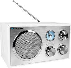 blaupunkt rxn 180 vers 2018 retro ukw fm küchenradio mit bluetooth aux in nostalgieradio in weiß