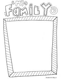 Family Reunion Coloring Pages Doodle Art Alley