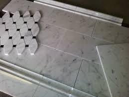 carrara bianco subway tile skirting chair basketweave floor