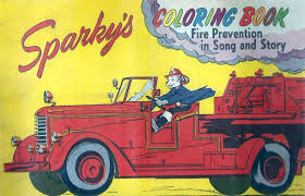 Sparky The Fire Dog A Coloring Book Was Among Pieces Of Prevention And