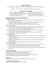 Resume Template Great Radiologic Technologist Sample Rv Clean Rad Tech Tw From