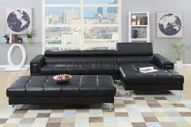 Buchannan Faux Leather Corner Sectional Sofa Black by Buchannan Faux Leather Sectional Sofa With Reversible Chaise