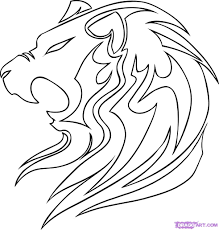 How To Draw A Tribal Lion Step By Step Tribal Art Pop Culture