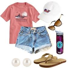 Love This Vineyard Vines Hat And Shirt With Monogrammed Water Bottle Pearl Earrings Preppy Summer Outfit
