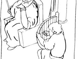 King David And Saul Coloring Pages Solomon Co