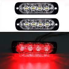 2X 4 LED Light Car Truck Warning Strobe Flash Light Emergency ...