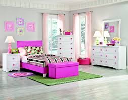 Design Ideas For Modern Gray Girls Bedroom With Cute Purple Wood Bed Frame That Have Line