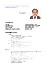 Sample Resume Call Center