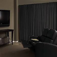 Amazon Curtains Living Room by Amazon Com Absolute Zero 11718050x084bk Velvet Blackout Home