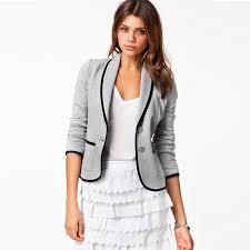 2014 New Fashion Spring Women Suits Short Design Turn Down Collar Slim Grey Jacket Coat