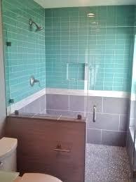 tile backsplash glass bathrooms design grey subway tile shower