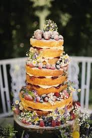 Rustic Naked Mixed Berry Wedding Cake