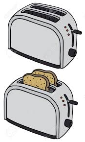 Hand Drawing Of Two Electric Toasters Stock Vector