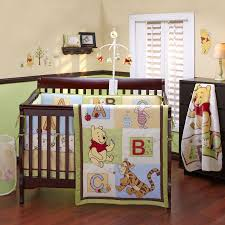Bedroom Charming Baby Cache Cribs With Curtain Panels And by Pooh Bear Nursery Disney Baby Pooh Abc 4 Piece Crib Bedding Set
