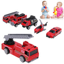 100 Model Fire Trucks 5PcsLot 164 Scale Alloy Truck Toy Cool Mini Fighting