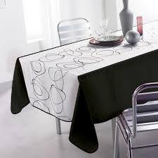 nappe anti tache abstract noir rectangle 150x240 cm pas cher