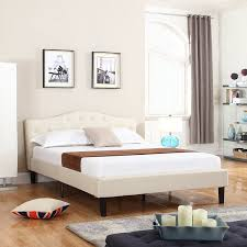 King Platform Bed With Fabric Headboard by Bedroom Full Size Frame With Headboard Queen Platform Low