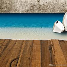 Wall Mural Decals Beach by Beach Sand Wall Stickers For Floor Removable Sea Beach Floor
