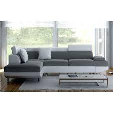 canapé gris et blanc pas cher canape d angle gris et blanc canape angle relaxation repose