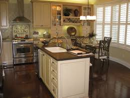 Image Of Dark Kitchen Cabinets With Hardwood Floors Vintage
