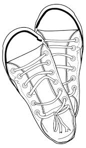 Sneakers Line Drawing