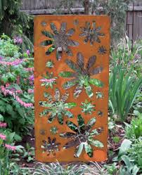 Metal Garden Decor Large Rustic Accent Screen Stake Hand Crafted