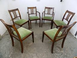 SORRY - SOLD - Six,lattice Back,green Fabric,Hepplewhite,style,dining  Chairs,4 Chairs,2 Carvers 4 Hepplewhite Style Mahogany Yellow Floral Upholstered Ding Chairs Style Ding Table And Chairs Pair George Iii Mahogany Armchairs Antique Set Of 8 English Georgian 12 19th Century Elegant Mellow Edwardian Design Antiques World 79 Off Wood Hogan Side Chair Eight Late 18th Of