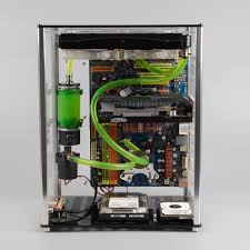 QDIY PC A009 ATX Transparent Computer Case Water Cooled Acrylic 5