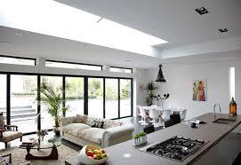 küche kombiniert mit wohnzimmer designideen vor und