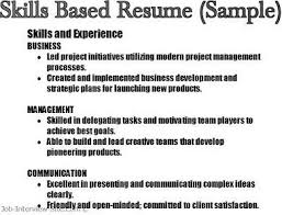 Key Skills In Resumes Skill Based Resume Summary Examples