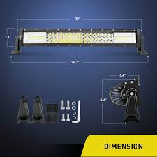 LED Light Bar Nilight 32Inch 378W Triple Row 37800LM Flood Spot ... Poppap 300w Light Bar For Cars Trucks Boat Jeep Off Road Lights Automotive Lighting Headlights Tail Leds Bulbs Caridcom Lll203flush 3 Inch Flush Mount 20 Watt Lifetime 4pcs Led Pods Flood 5 24w 2400lm Fog Work 4x 27w Cree For Truck Offroad Tractor Wiring In Dodge Diesel Resource Forums Best Wrangler All Your Outdoor 145 55w 5400 Lumens Super Bright Nilight 2pcs 18w Led Yitamotor 42 400w Curved Spot Combo Offroad Ford Ranger