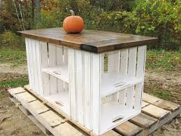 Kitchen Island Booth Ideas by Kitchen Island Or Table Made From Upcycled Recycled Wooden Crates