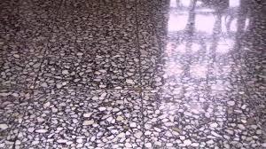 terrazzo floor restoration polishing florida youtube