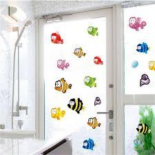unterwasser fisch seesterne blase wand aufkleber für kinder zimmer kindergarten bad kinder zimmer home decor wand abziehbilder spargut