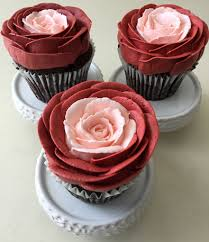 Cupcakes Decorated With Red And Blush Buttercream Roses York PA