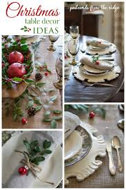 Lots Of Great Ideas For A Natural Rustic Christmas Tablescape
