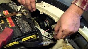 changing headlight in a subaru