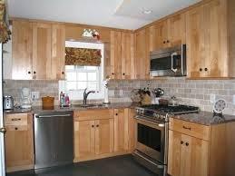 Brick Backsplash Kitchen Farmhouse With Wood Hood