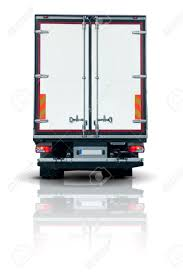 100 Truck Doors Trailer Back View With Closed Stock Photo Picture And