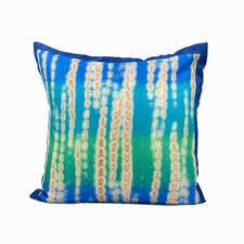 No Reviews Blue And Green Batik Throw Pillow Cover