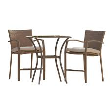 Cosco Lakewood Ranch 3-Piece High Top Wicker Outdoor Bistro Set With ... Pub Tables Bistro Sets Table Asuntpublicos Tall Patio Chairs Swivel Strathmere Allure Bar Height Set Balcony Fniture Chair For Sale Outdoor Garden Mainstays Wentworth 3 Piece High Seats Www Alcott Hill Zaina With Cushions Reviews Wayfair Shop Berry Pointe Black Alinum And Fabric Free Home Depot Clearance Sand 4 Seasons Valentine Back At John Belden Park 3pc Walmartcom