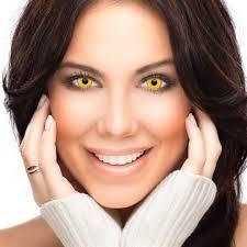 Cheap Prescription Halloween Contact Lenses by Yellow Coloured Contacts Prescription Coloured Contact Lenses