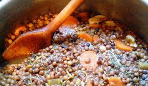 cuisine lentille rôti en cocotte et ragoût de lentilles vertes du puy la