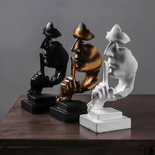 stille ist gold dekoration wohnzimmer zuhause weinschrank dekoration buero skulptur handwerk buecherregal harz gold