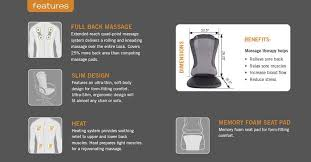 Back Massage Pads For Chairs by New Ht 1470 Human Touch Back Massage Pad Cushion Soothing Heat