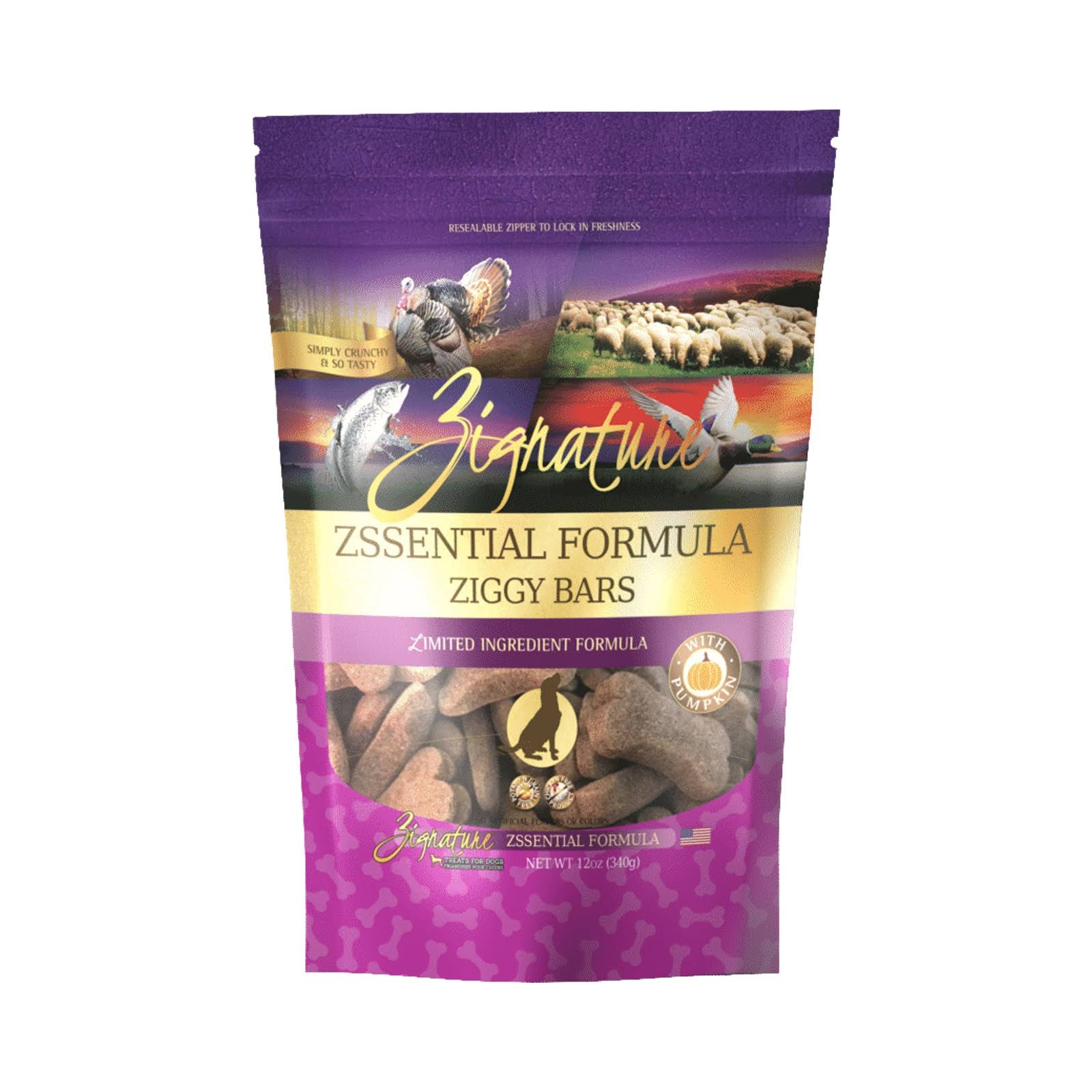 Zignature Zssential Ziggy Bars Dog Treats - 12 oz