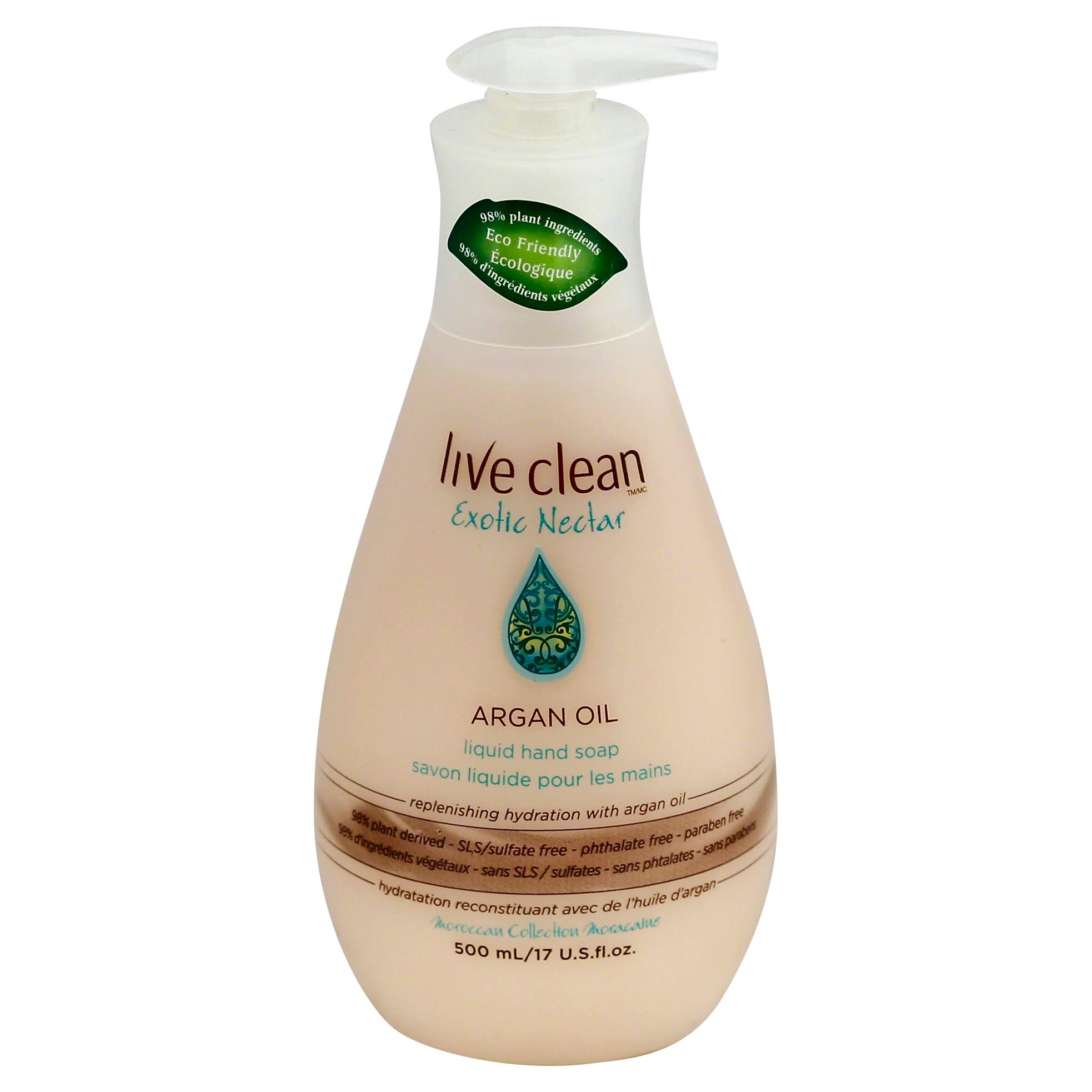 Live Clean Exotic Nectar Replenishing Liquid Hand Soap - 17 Oz