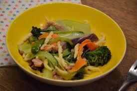 cuisine pourrie après une semaine pourrie pâtes carbonara aux légumes cuisine